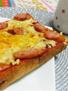 简单 5分钟 芝士超多的早餐披萨
