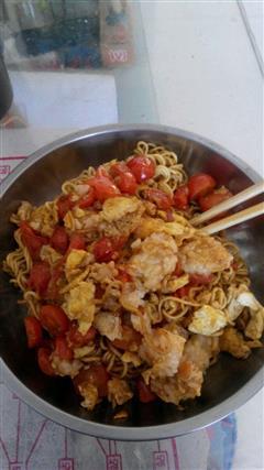 西红柿鸡蛋炒面