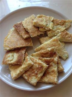 金针菇鸡蛋饼