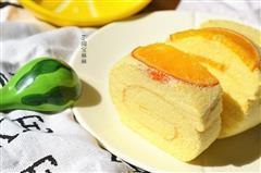 香橙戚风蛋糕卷