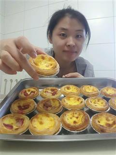 草莓蛋挞,原味蛋挞,葡萄干蛋挞
