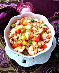鲜虾鸡丁-什锦酱油炒饭