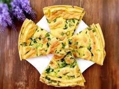 油菜鸡蛋饼