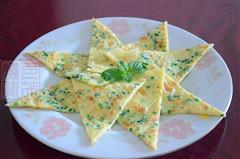 韭苔鸡蛋饼