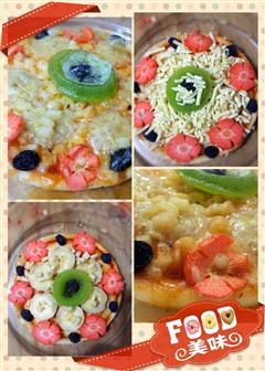 微波炉水果披萨