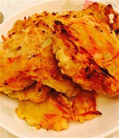 土豆胡萝卜丝鸡蛋饼
