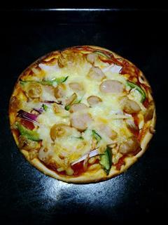 维也纳香肠披萨五分钟香喷喷