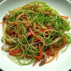 蒜苔丝炒腊肉