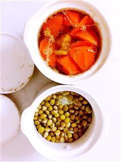 胡萝卜排骨汤 豌豆饭