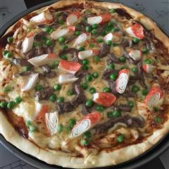 简易牛肉披萨