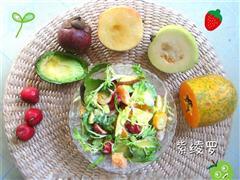 春季补水养生低脂水果沙拉