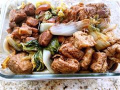 红烧肉豆泡大白菜