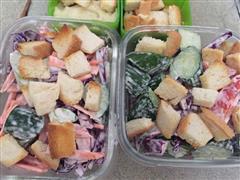 午餐-蔬菜沙拉+土豆泥