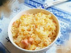 三文鱼黄金蛋炒饭