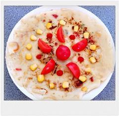 番茄玉米鸡蛋饼