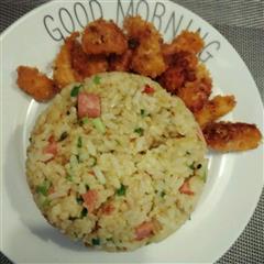 蛋炒饭+鸡米花