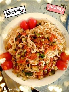 西红柿炒面
