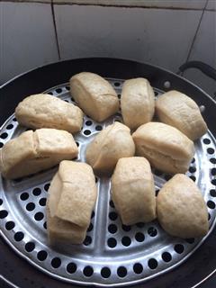 面包机版奶香红糖馒头