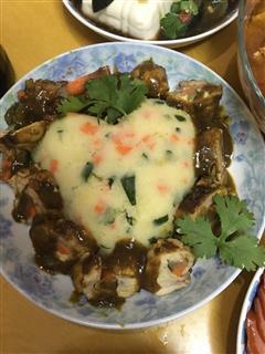 咖喱鸡腿卷+土豆泥