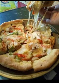 给妈妈做的爱心披萨