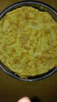 萝卜干鸡蛋饼