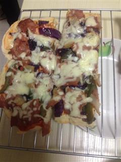 培根紫甘蓝披萨