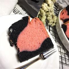 黑巫婆遇上粉萝莉戚风蛋糕