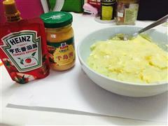 千岛番茄酸奶青瓜鸡蛋土豆泥