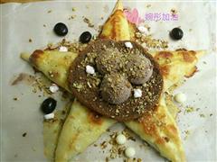 熔岩巧克力甜在星披萨