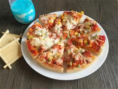培根大虾厚底披萨