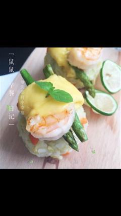 芝士虾卷蛋炒饭