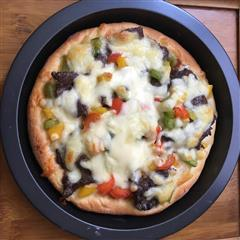 彩椒牛肉披萨