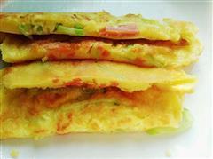 黄瓜丝鸡蛋煎饼