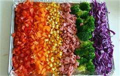 彩虹沙拉焗土豆泥