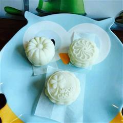 果语美食绿豆冰皮月饼