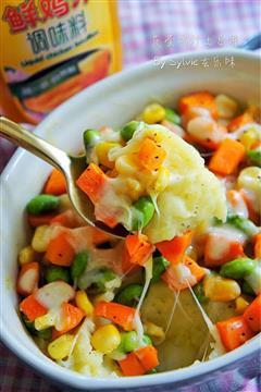 蔬菜鸡汁土豆泥