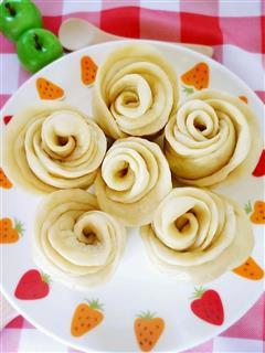 蔬菜玫瑰花馒头