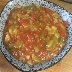 红烧茄子 西红柿味