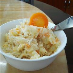 鸡丝胡萝卜土豆泥