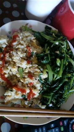 小白菜蛋炒饭