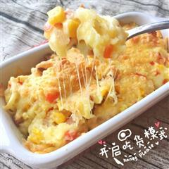 香肠焗土豆泥