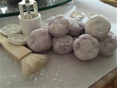 紫薯奶酪冰皮月饼
