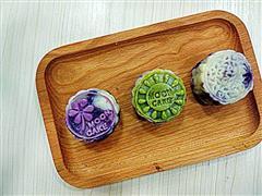 奶黄紫薯冰皮月饼