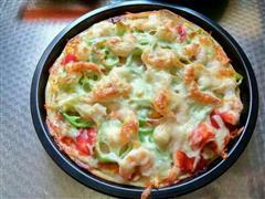 虾仁香肠披萨八寸盘