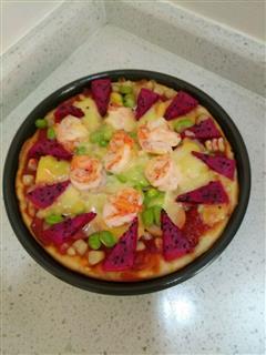 红红火火虾仁火腿披萨