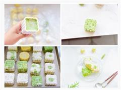 小清新奶油绿豆冰皮月饼
