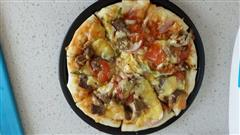 家常黑胡椒牛肉披萨