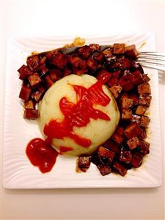红烧素鸡土豆泥