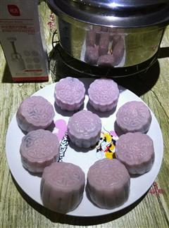 紫米冰皮月饼
