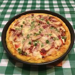 培根蔬菜披萨-有滋有味饼底